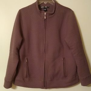 3/$10Stephanie Rogers Large quilted zip up jacket